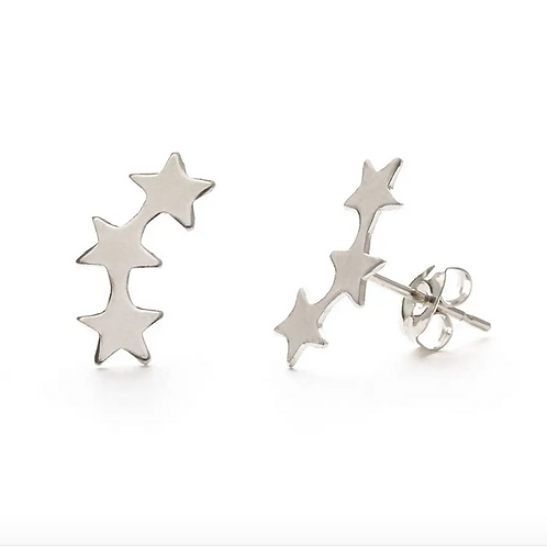 Star Cluster Earrings- Silver or Gold