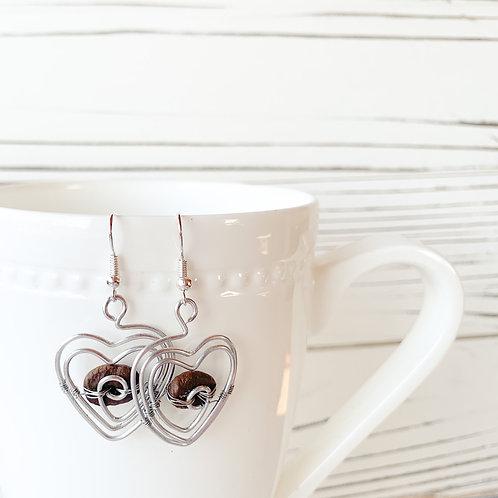 Coffee Bean Earrings: 4 pack