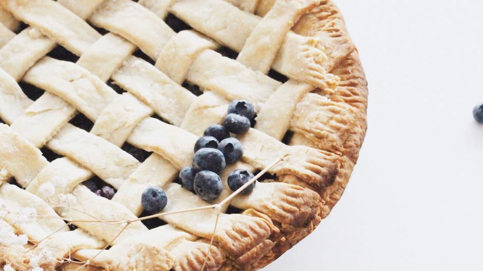 Classic Vegan Blueberry Pie