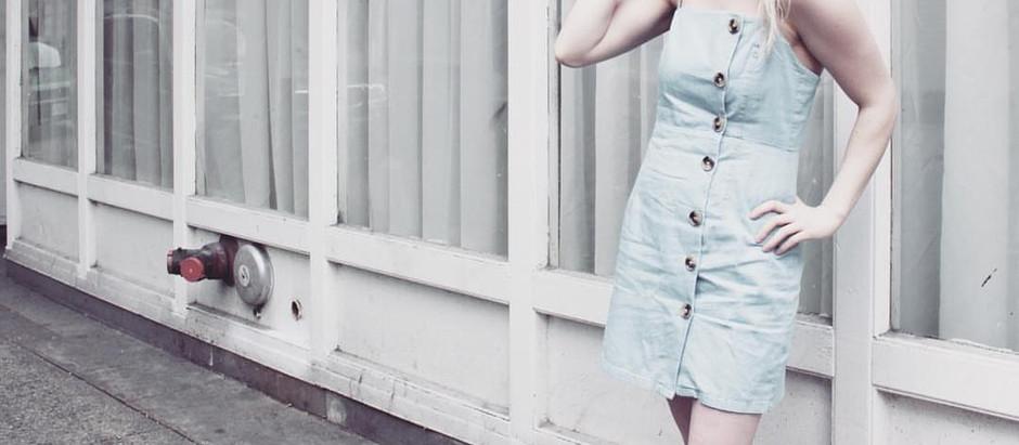 Blue Button Up Sundress