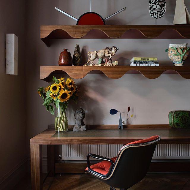 Interior design desk work from work architecture office