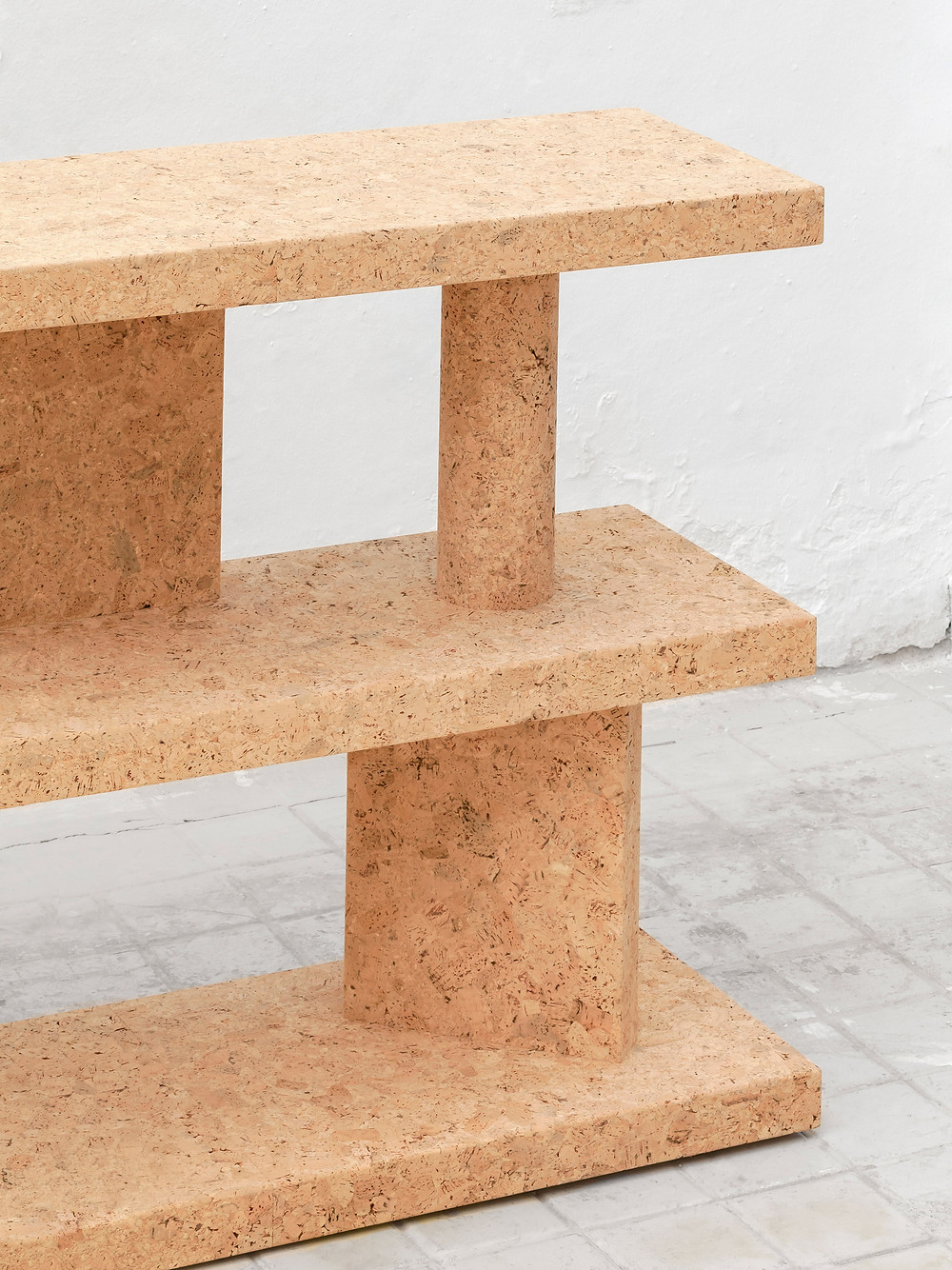 An exhibition of cork furniture by Jasper Morrison has opened at the Kasmin in New York's Chelsea, the designer's first solo show in North America.  Called Corks, the show brings together items of furniture by the London-based designer that are all realised entirely in cork.