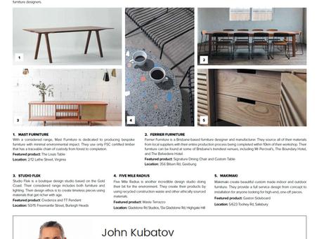 Real Estate News and Views Article // Brisbane region furniture designers