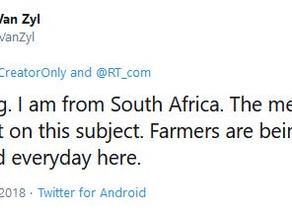 Q: Are white farmers murdered every day in South Africa?