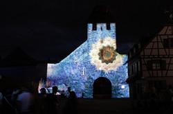 Mapping vidéo : fête de la fontaine