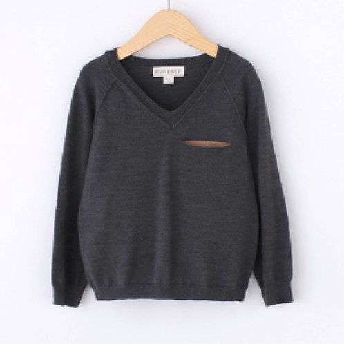 Grey and Brown Sweater