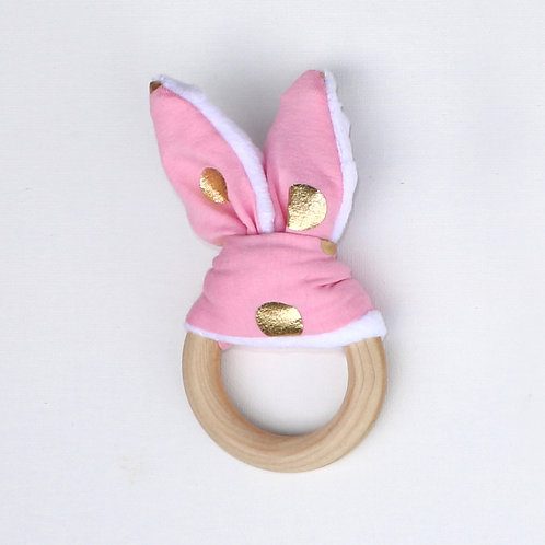 Teether - Pink and Gold