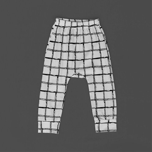 Grid Harem Pants [Size 2&3]