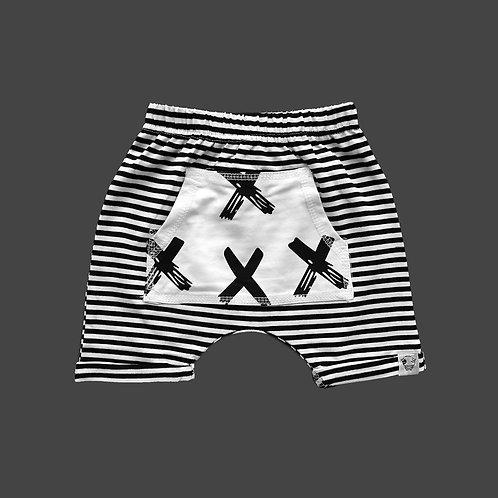 Striped Harem Shorts [SIZE 5]