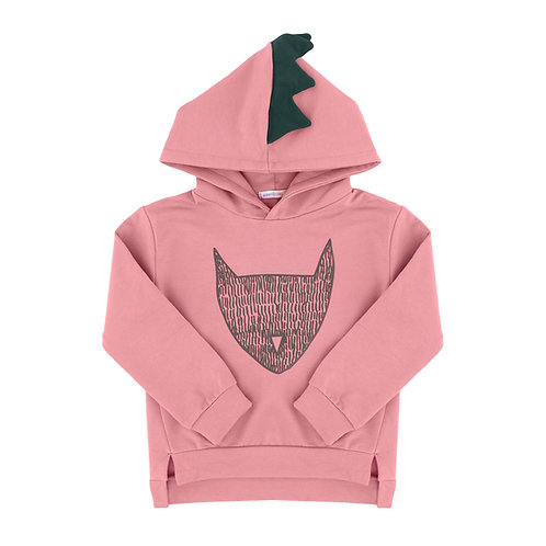 Cat Hoodie - Dusky Pink