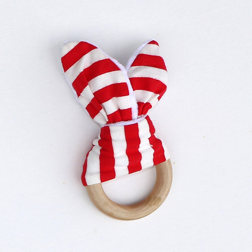 Teether - Red Stripes