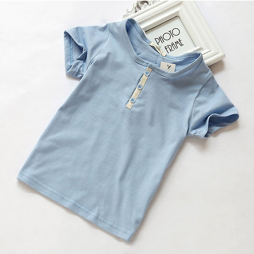 Button Boys Tee - Blue [SIZE 2&5]