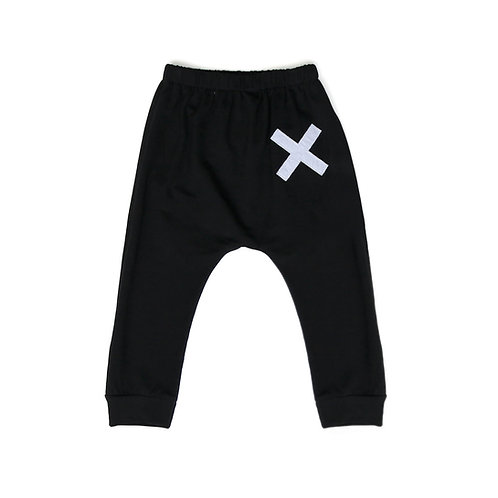 Black Cross Harem Pants