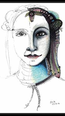 Portrait - Drawing by Ella Blame