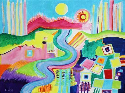Landscape with Squares