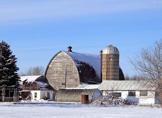 Rural Architecture in Winter