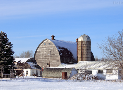 Rural Architecture in Winter