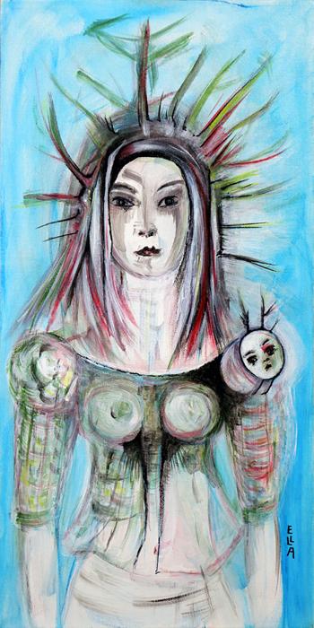 Self-Portrait With Bug On My Shoulder by Ella Blame