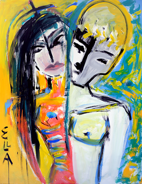 Life Of Death And Love - Painting by Ella Blame