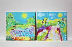 2 Abstract Landscape Paintings