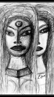 Sisters - Drawing by Ella Blame