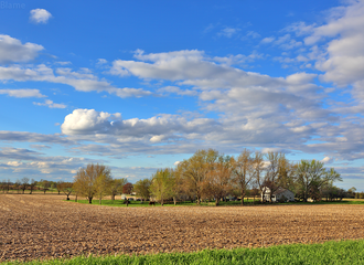 Countryside and Clouds