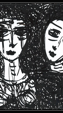 Trinity - Drawing by Ella Blame