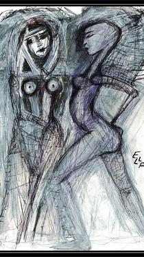 Meeting - Drawing by Ella Blame