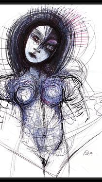 Elucidation - Drawing by Ella Blame