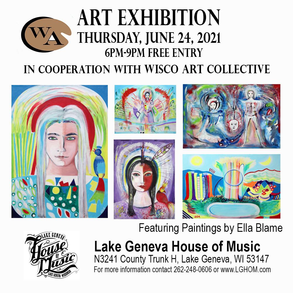 Ella Blame Exhibition Lake Geneva House of Music