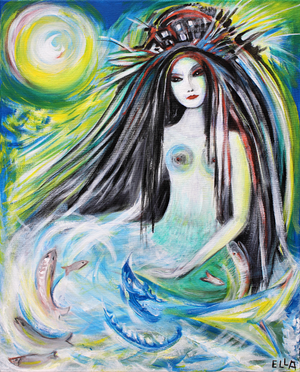 Mermaid Riding On A Wave