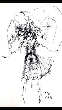 Flying - Drawing by Ella Blame
