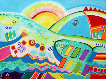 Landscape with Fish