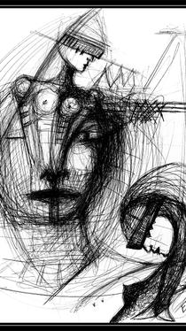 The Beast - Drawing by Ella Blame