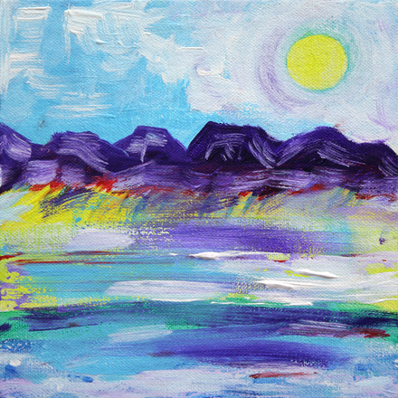 Landscape with Purple Mountains