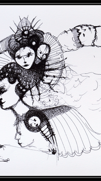 Discoveries - Drawing by Ella Blame