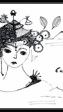 Cuckoo Bird - Drawing by Ella Blame