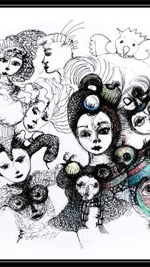 Figures - Drawing by Ella Blame