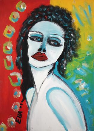 Selbstportrait - Painting by Ella Blame