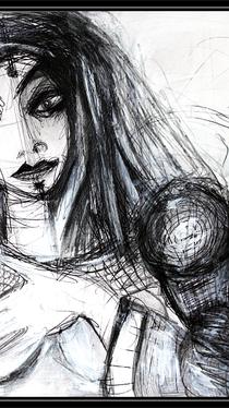 Ancient Warrior - Drawing by Ella Blame
