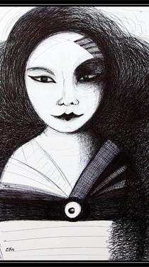 Untitled - Drawing by Ella Blame