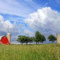 Farm and Clouds