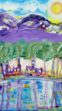 Landscape - Painting by Ella Blame