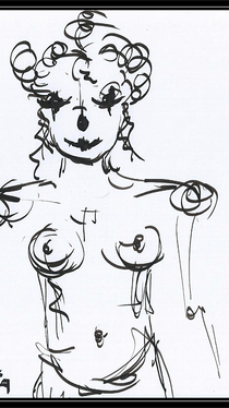Clowness - Drawing by Ella Blame