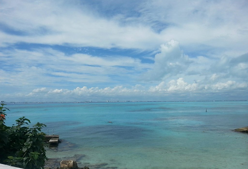 View of Isla Mujeres Bay.