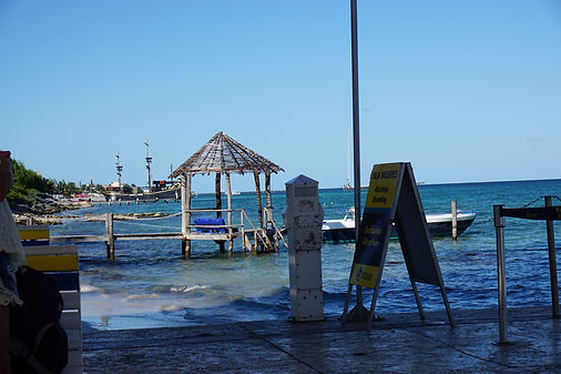 Ferry dock in Isla Mujeres