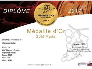 Médaille d'or AOP MORGON