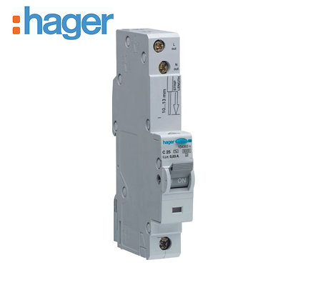 Hager ADC140 40A 30mA 10kA Single Phase C Type RCBO
