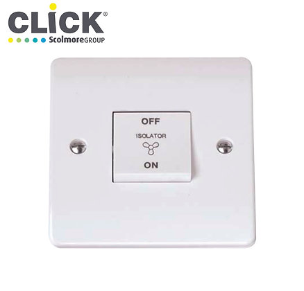 Click Scolmore CMA020 10A Triple Pole Fan Isolator Switch