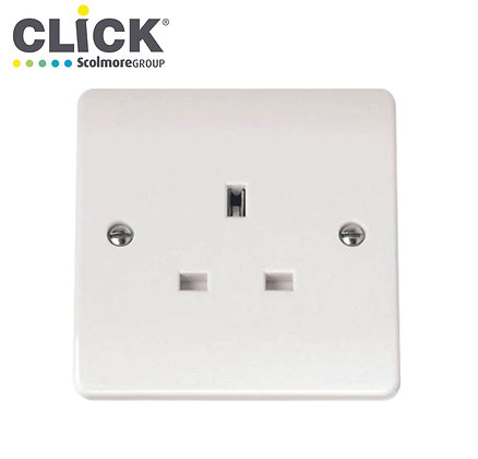 Click Scolmore CMA030 13A 1 Gang Unswitched Socket